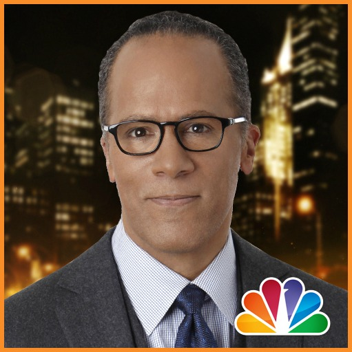 Lester Holt, anchor of NBC Nightly News with Lester HoltPhoto via Twitter