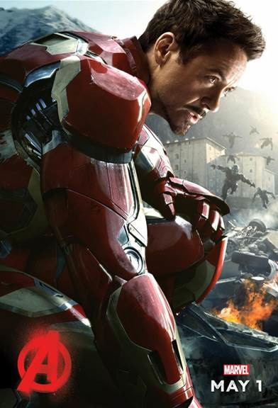 Robert Downey Jr. stars as Tony Stark in  Avengers: Age Of Ultron