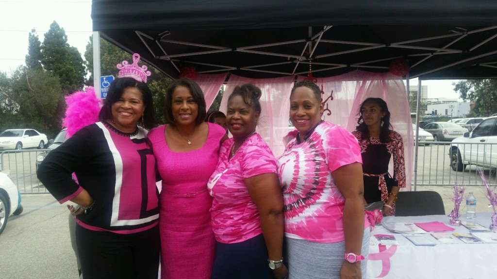 A mobile mammography event in Los Angeles, CA.  October 2015  Photo Courtesy: Jackie Coco